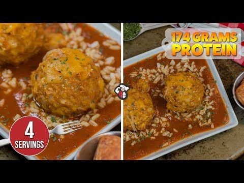Easy Meal Prep Rice PIZZA Meatballs