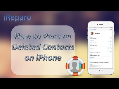 [2017] iPhone Contacts Disappeared? How to Restore Deleted Contacts on iPhone 7/6S/6/5S/5