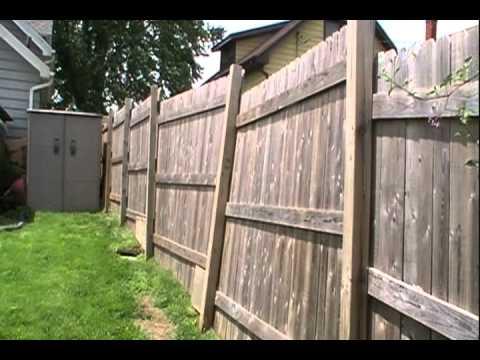 Fence damage from neighbor's dog