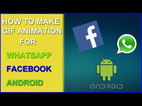 How to make GIF Animation on Whatsapp , Facebook & Android * Easy Level *  | The Zoom Life