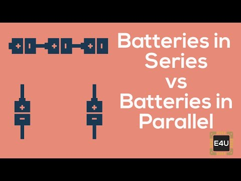 Series and parallel combination of battery cells