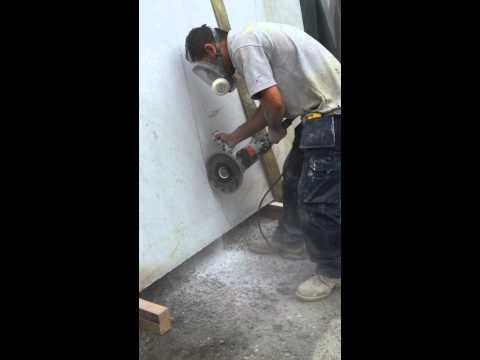 Cutting marble slab