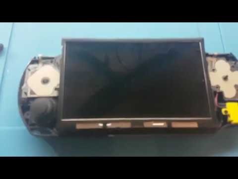 PSP-E1004 No backlight - Black screen Fix