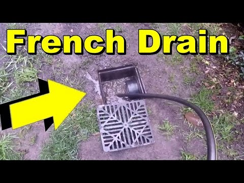 French Drain Clean & Maintenance Tips