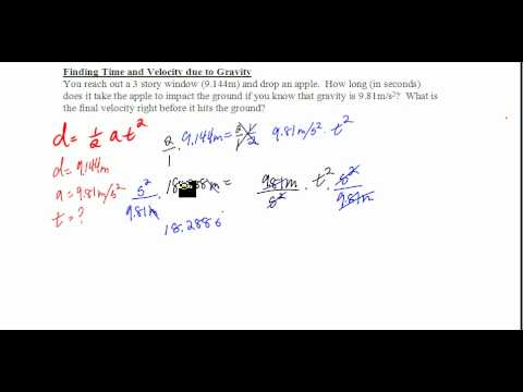 Finding Time and Final Velocity due to Gravity