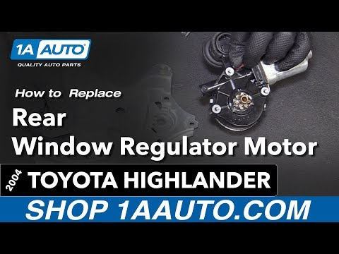 How to Replace Install Rear Window Regulator Motor 04 Toyota Highlander