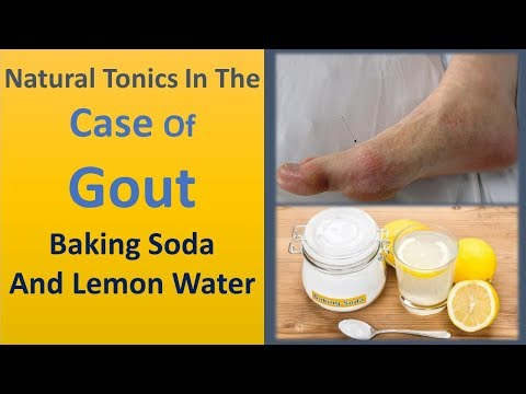 Natural tonics in the case of gout - Baking Soda and Lemon Water