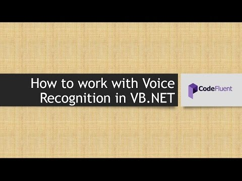 How to work with Voice Recognition in VB.NET