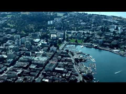 Victoria, BC Canada from the air in a small 4 seat Cessna plane