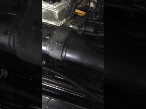 1994 22re 4x4 Toyota pickup radiator and block coolant flush