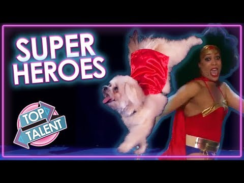 REAL SUPERHEROES on Got Talent! | Top Talent