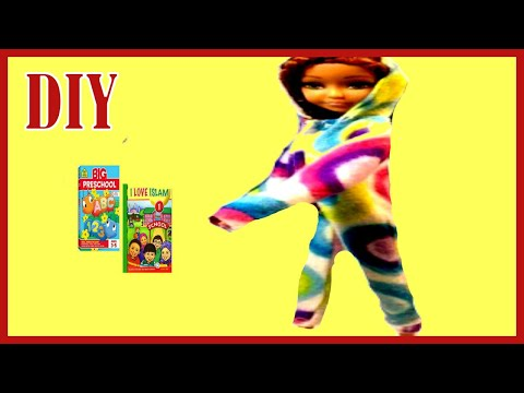 Onesie Pajamas For Dolls/Making clothes for dolls (Barbie Pajamas)