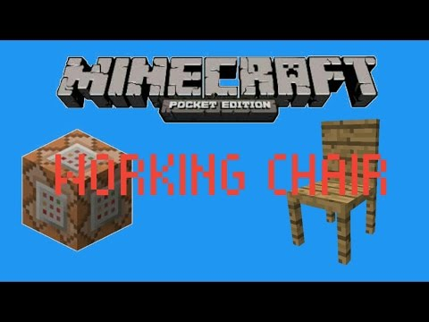 MCPE COMMANDS : How to make a working chair in MCPE