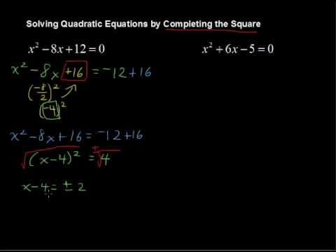 How to Solve Factoring Quadratic Trinomials by Completing the Square - Algebra Tips