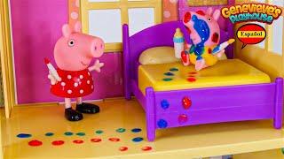 Video de Aprendizaje de Juguetes para Niños - ♥Peppa Pig♥ Babysitting Baby Alexander!