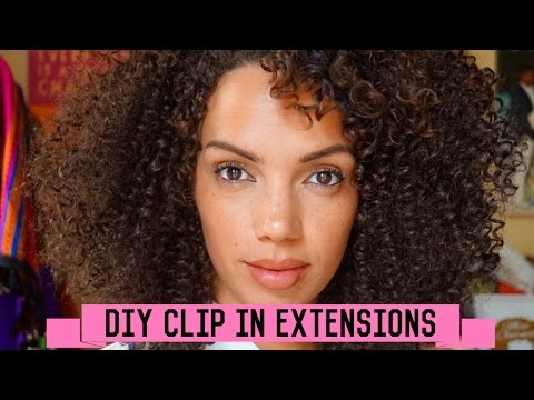 HOW TO MAKE YOUR OWN CURLY CLIP IN EXTENSIONS W/ OUTRE WEAVING SYSTEM