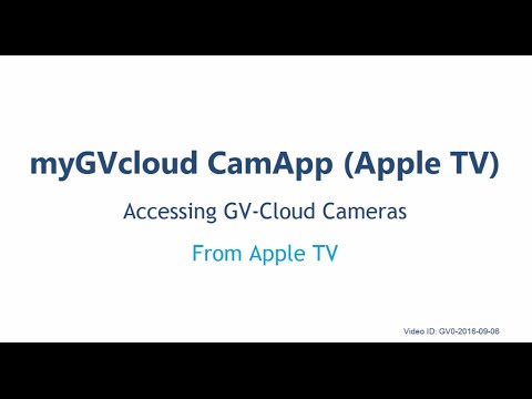myGVcloud - myGVcloud CamApp for Apple TV