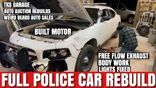 Copart Police Car Full Rebuild all in One Video it's done!