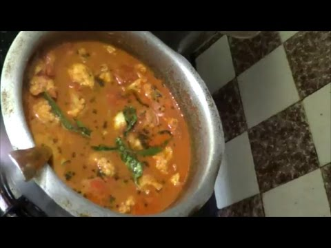 Cauliflower Curry for Rice/Chappathi