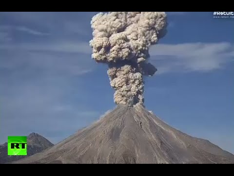 Ash & explosion: Spectacular timelapse of Mexican Colima volcano eruption