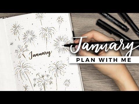 PLAN WITH ME | January 2018 Bullet Journal Setup
