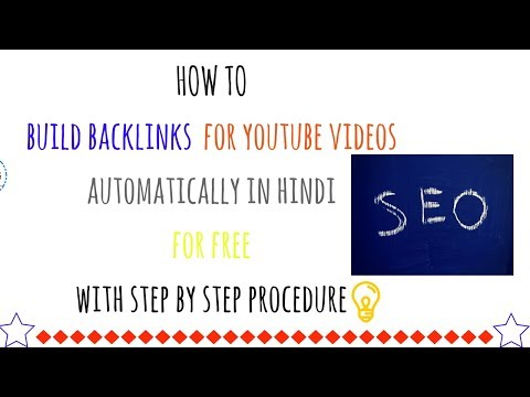 How to build backlinks for youtube videos automatically