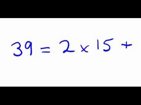 Euclid's algorithm to find HCF of 15 and 39