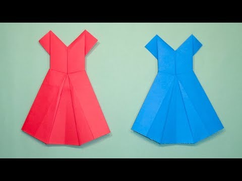 How To Make a Paper Dress || Origami Frock Making for Ladies ✓