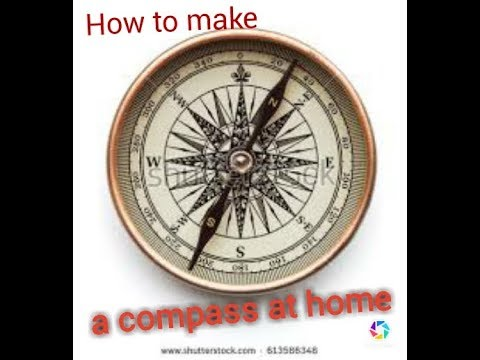 How to make compass with a magnet ...? Very easy..