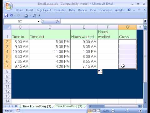 Excel Basics #15: Date & Time Format & Calculations