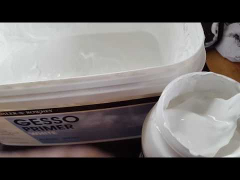 Favorite Art Supplies - More Gesso - so thick and  creamy