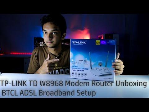 TP-LINK TD W8968 Modem Router Unboxing |  BTCL ADSL Broadband Setup