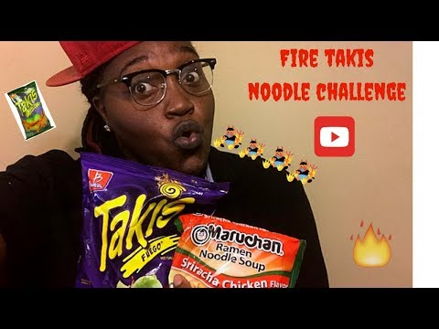 Fire Takis Noodle Challenge • MUKBANG!!!!
