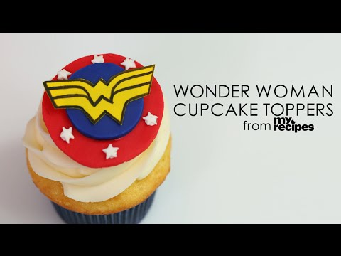 How to Make Wonder Woman Cupcake Toppers | MyRecipes