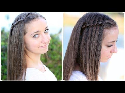 Pancaked 4-Strand Waterfall Braid | Cute Hairstyles