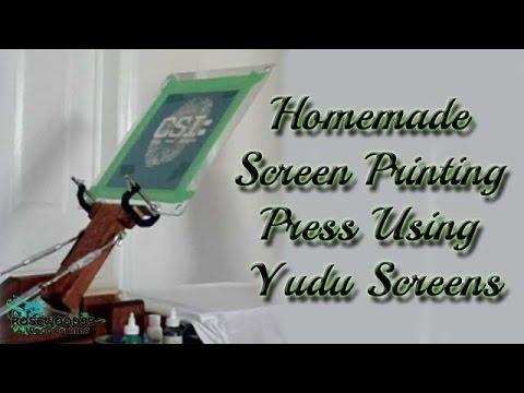 Homemade Screen Printing Press Using Yudu Screens
