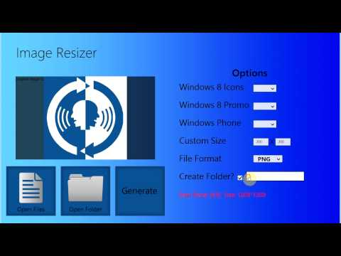 Developers Image Resizer Tool & Icon Generator (Windows 8 Apps)