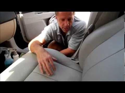 Car vinyl upholstery cleaning: Chrysler 300
