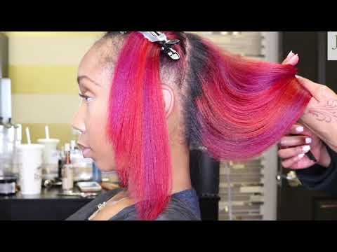 Red, Fiery Coral, & Magenta Hair!
