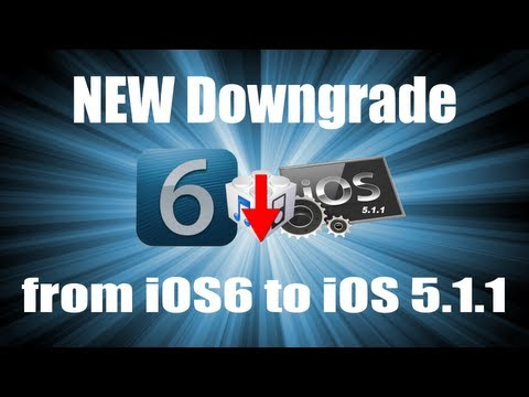 Downgrade iOS 6.0 to iOS 5.1.1 [iPhone 4/3Gs,iPod Touch 4G]