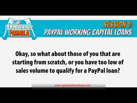 01 PAYPAL CAPITAL How to Get a $10,000+ Working Capital Loan from Paypal