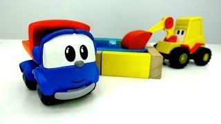 Leo der Lastwagen baut einen Pool 🏊 Leo the Truck 🚚  Video für Jungen mit Spielzeugautos 🚗