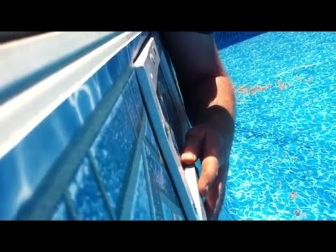 How to install a pool skimmer faceplate