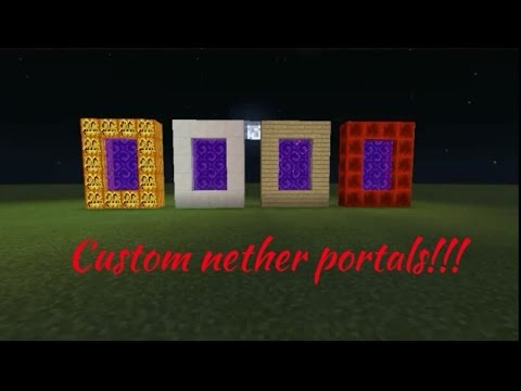How to create a custom nether portal in mcpe!