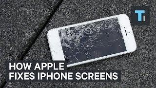 this is how apple repairs broken iphone screens