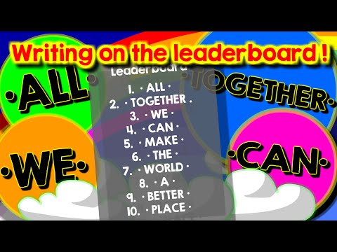 Agario party mode // Writing on the leaderboard : ALL TOGETHER WE CAN MAKE THE WORLD A BETTER PLACE