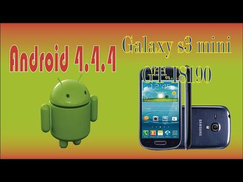 Instala Android 4.4.4 [Kitkat] Galaxy s3 mini GT-I8190 Rom Estable
