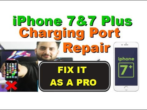 HOW TO REPLACE THE CHARGING PORT ON IPHONE 7 AND 7 STEP BY STEP PLUS AS A PRO