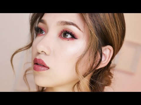 Romantic Fall Wine Party   Makeup Tutorial   GRWM   beginner's makeup