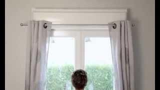 ridorail ib support de tringle rideaux sans percage pour fenetre pvc bengal tube. Black Bedroom Furniture Sets. Home Design Ideas